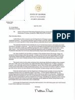 Nathan Deal DOE letter