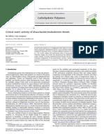 Critical Water Activity of Disaccharide-maltodextrin Blends