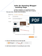How to Create an Amazing Blogger Landing Page