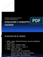 EVOLUCIÓN Y CONCEPTO DE LA CALIDAD