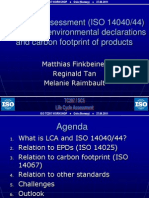 Life cycle assessment (ISO 14040/44) as basis for environmental declarations and carbon footprint of products