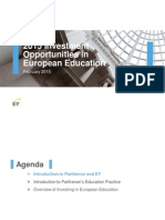 2015 Investment Opportunities in European Education