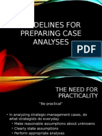 Guidelines for preparing Case Analysis