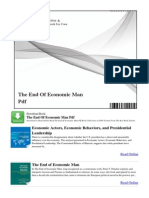 The End of Economic Man PDF