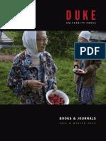Duke University Press Fall 2015 Catalog