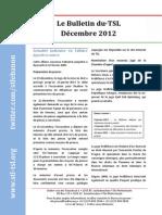 Bulletin du TSL - Décembre 2012