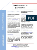 Bulletin du TSL - Janvier 2013