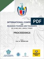 Uluslararasi Dini Turizm Ve Hosgoru Konferansi. Full Text