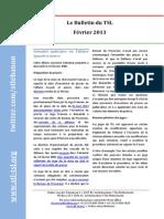 Bulletin du TSL - Février 2013