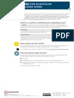 Scaffolds Scaffolding Work General Guide