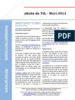 Bulletin du TSL - Mars 2013
