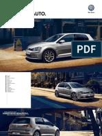 Volkswagen Golf Brochure 2014