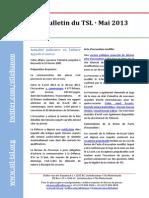 Bulletin du TSL - Mai 2013