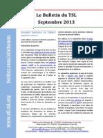 Bulletin du TSL - Septembre 2013