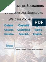 Vocabulario Soldadura Catalán-Español-Inglés