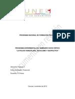 Policía Venezolana, Socialismo y Geopolitíca Seminario i de Tsu Segun (1)