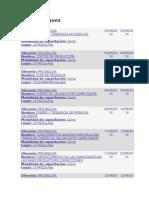 Cursos 2014 y 2015 Pro Bolivia