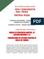 Comunicado 4 PR Valle Del Tambo
