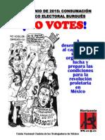 No votes, únete, organizate y lucha