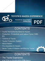 Toyoto's Kaizen Experience Final