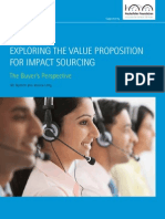 Exploring the Value Proposition for Impact for Impact Sourcing