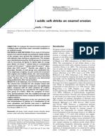 Impact of Modified Acidic Soft Drinks on Enamel Erosion