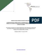 La Alianza Regional presenta documento de observaciones al Comité de Negociación de Principio 10 en Chile