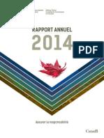 Rapport annuel 2014 Commission des plaintes de la police militaire