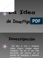 Idea de Investigación