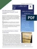 Elihu Burritt Library Spring 2015 Newsletter