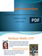 leadership interview