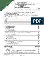 Matematică - Model Barem corectare Evaluarea Naționala 2015