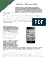 ¿Quien Es Mejor, Galaxy Note 4 O IPhone seis Plus?
