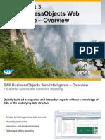 OpenSAP Bifour2 Week 4 Unit 3 WebIntelligence Presentation