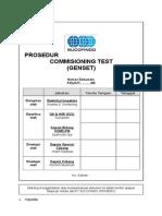 Prosedur Commissioning - Genset