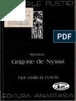 Sfantul Grigorie de Nyssa-Opt Omilii La Fericiri