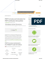 PMP Calculations explained