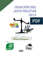 Liquidación Del Gasto Militar 2013