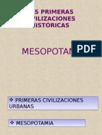 Civilizaciones Fluviales Mesopotamia