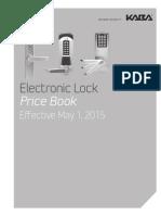 Kaba E-plex Price Book- 2015