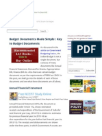 Budget Documents Made Simple _ Key to Budget Documents - Clear IAS