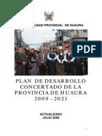 Plan de Desarrollo de La Prov de Huaura
