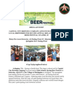Spring Beer Festival Advisory with Breweries