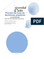Proceso de Toma de Decisiones Prejuicios y Errores