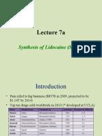 Chem 30CL-Lecture 7a Lidocaine 1