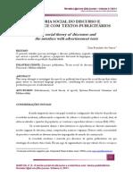 A TEORIA SOCIAL DO DISCURSO E A INTERFACE COM TEXTOS PUBLICITÁRIOS
