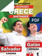 Afiche con fórmula a Santander