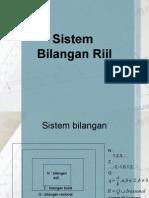 Sistem Bilangan Riil