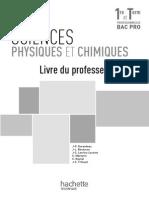 Hachette Sciences 1ère-Tale Livre Du Prof 2032301374014842