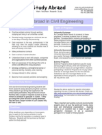 Civil Engineering Study Abroad